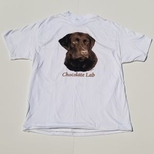 Vintage Dog Chocolate Lab Hanes Beefy-T Good Boy